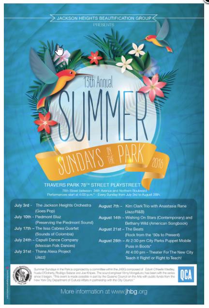 summer sundays brochure