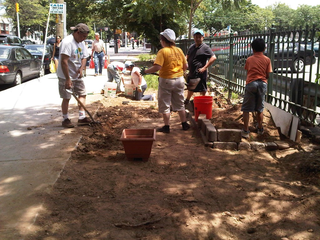 New planting project in Jackson Heights