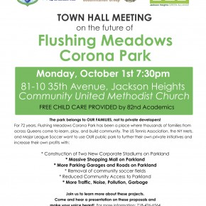 Townhall Meeting: Flushing Meadows Corona Park