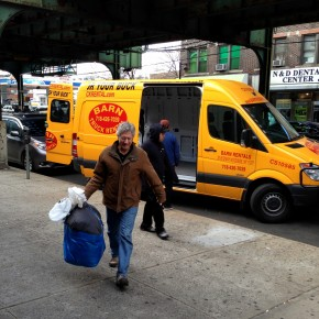 Unloading at Make the Road New York