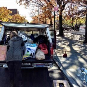 Volunteers driving to Rockaways