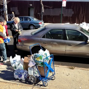 Volunteer driving to OccupySandy in Jackson Heights