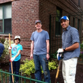 Dunolly Garden volunteers at work (Luca, Bill, & Jaime)