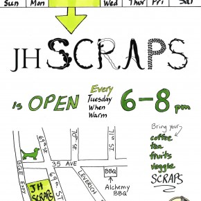 JH SCRAPS is also open on Tuesdays!
