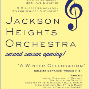 Jackson Heights Orchestra: Second Season Opening!