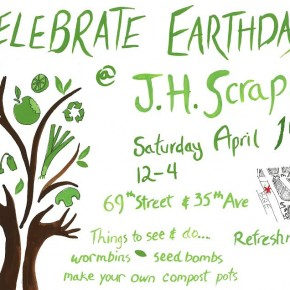 Celebrate Earth Day 2014 with JH SCRAPS