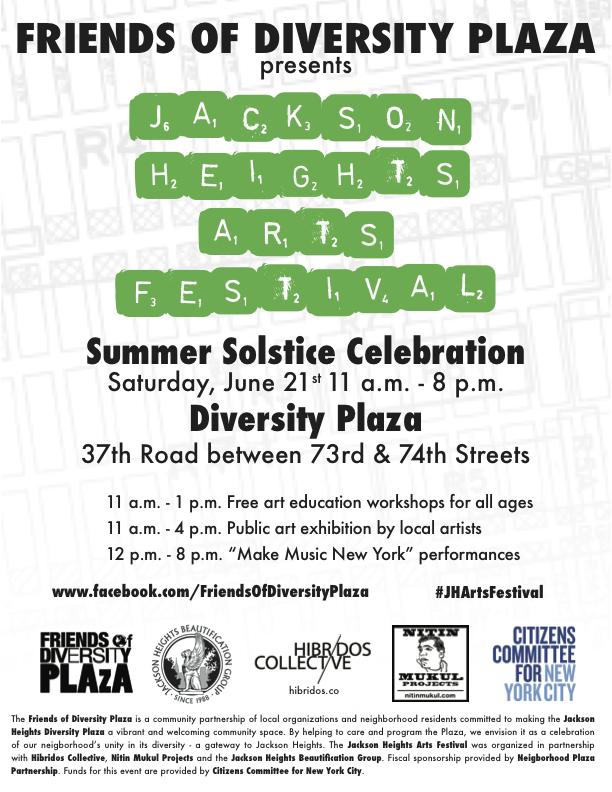 2014 Jackson Heights Arts Festival flyer