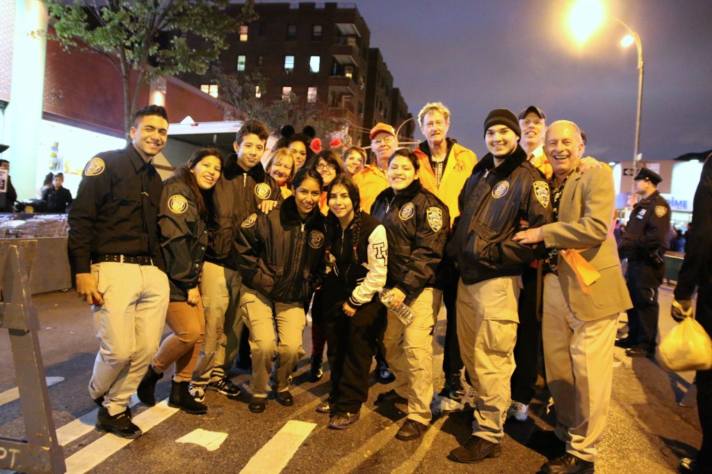 Explores from the 115 Precinct who guided the marchers down the avenue