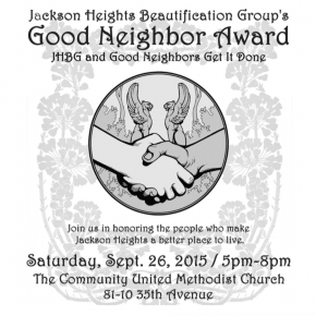 JHBG's Good Neighbor Awards Dinner – Don't Miss it